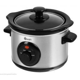 Swan SF17010N Slow Cooker 1.5 Litre 120 Watt Silver