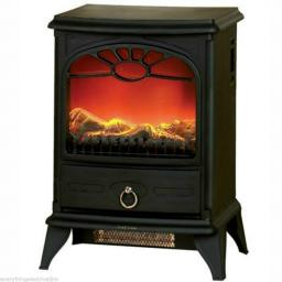 Delta PE139A Log Effect Stove Fire 2000 Watt Black