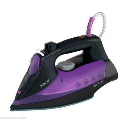 Elgento E22001 Steam Iron Ceramic Soleplate 2600 Watt Black/Purple