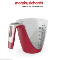 Morphy Richards 970519 Equip 2 in 1 Measuring Jug and Digital Scale Red