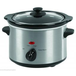 Swan SF11010N Slow Cooker 1.5 Litre Stainless Steel