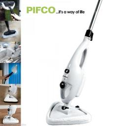 PS001 Pifco 6 IN 1 Multi Function Steam Mop 1300 Watt White/Black