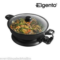 Elgento E14018N Non Stick Electric Wok Black