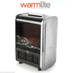 Warmlite WL46011S Mini Fireplace Heater 1500 Watt Silver