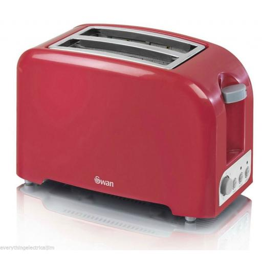 Swan ST14030REDN 2 Slice Toaster Red