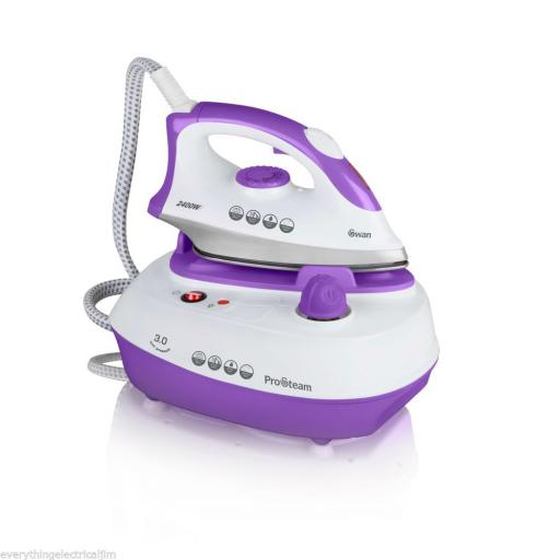 Swan SI12010N Steam Generation Iron 2400 Watt 3 Bar White/Purple