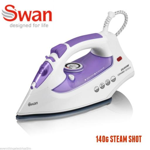 Swan SI10010N Steam Iron 2600 Watt White/Purple