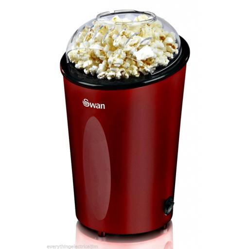 Swan SF14010REDN Popcorn Maker 900 Watt Red