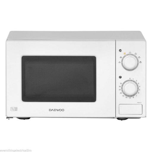 Daewoo KOR6L77 Manual Microwave, 700 Watt, 20 L White New