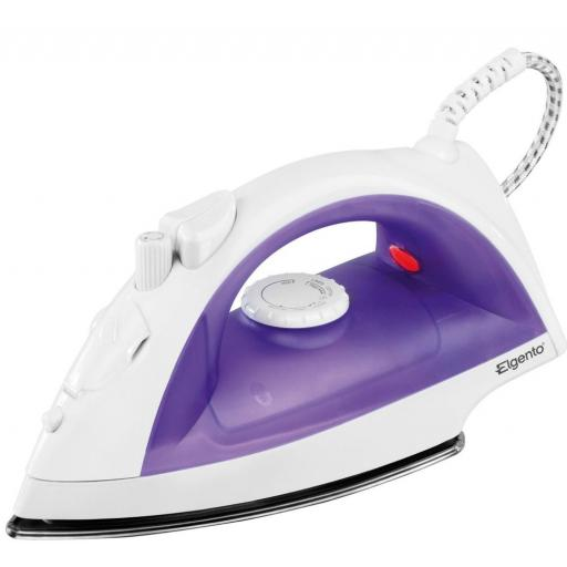Elgento E22002 Steam Iron Adjustable Steam Teflon 2000 Watt White/Purple