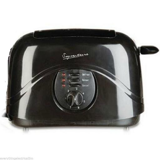 Signature S20004R 2 Slice Toaster 800 Watt Black