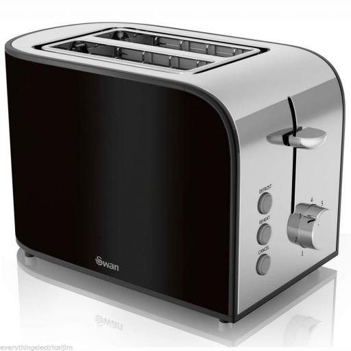 Swan ST17020BLKN Townhouse 2 Slice Toaster 800 Watt Black