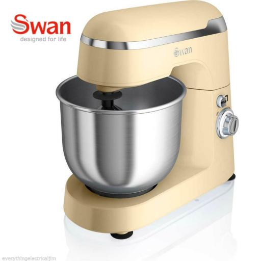 Swan SP25010CN Retro Stand Mixer 600 Watt 4.2 Litre Cream