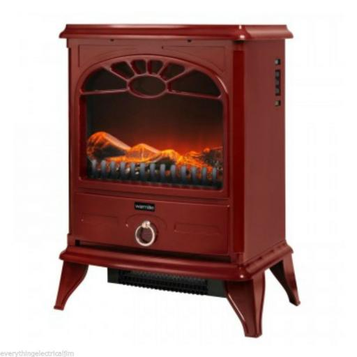 Warmlite WL46014R 2000W Log Effect Stove Fire Red