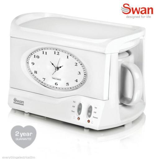 Swan Vintage Teasmade STM201N with Alarm Clock Brand New