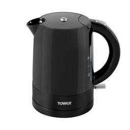 Tower T10010 Jug Kettle with Twin Water Level Indicators 1500W 1L Black