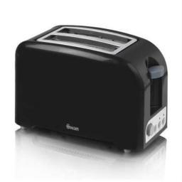 Swan ST14030BLKN 2 Slice Black Toaster