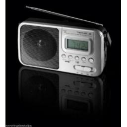 Teknique T042 4 Band Portable Radio with Led Display Digital AC/DC Silver
