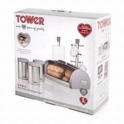 Tower IDT81202 6 Piece Kitchen Storage Set Mulberry