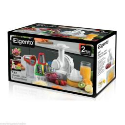 Elgento E23005 3 in 1 Juicer/Shredder and Ice Cream Maker