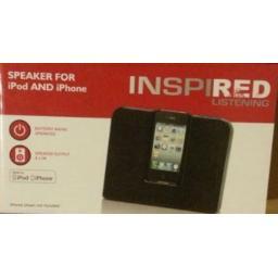 Inspired Listening 2249 Speaker for iPod and iPhone Black