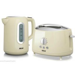 Akai A10001C Cordless Kettle 1.7 Litre 2200 Watt Cream