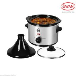 Swan SF11060N Tagine / Slow Cooker 1.5 Litre Silver