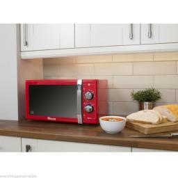 Swan SM22070RN 25 Litre Retro Manual Microwave Red