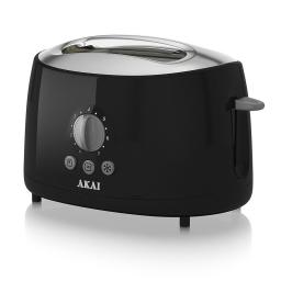 Akai A20001B 2 Slice Toaster, 700 W - Black Cool Touch Style Finish