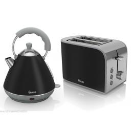 Swan ST17020BN 2 Slice Retro Toaster 800 Watt Black Brand New