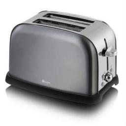 Swan ST16020GRAN 2-Slice Metallic Toaster, Graphite Stylish and Sleek Design