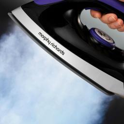 Morphy Richards 330021 Power Steam Elite 2400W Steam Generator Iron Purple
