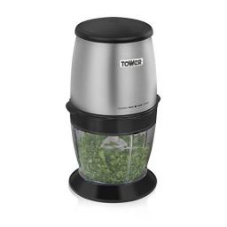 Tower T12009 Silver 300W Spice Grinder with Chopper