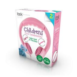 iTek I58033P Children's Flexi Headphones Pink