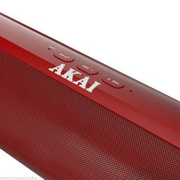 Akai A58037R XL Capsule Portable Bluetooth Speaker Red