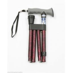 Adjustable Soft Gel Handle Folding Walking Stick ARG10370RC