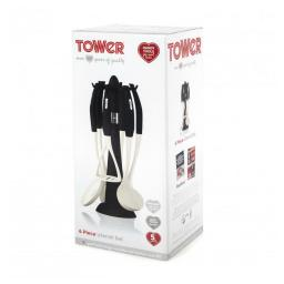 Tower T81300 6 Piece Utensil Set and Carousel in Black