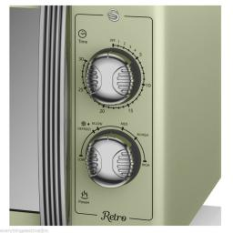 Swan SM22070GN 25 Litre Retro Manual Microwave Green