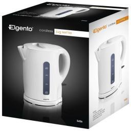 Elgento E456 Jug Kettle 1.7 Litre 2200 Watt White