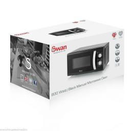 Swan SM40010BLKN Solo Microwave 800 Watt 20 Litre Black
