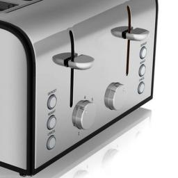 Akai A20002 4 Slice Toaster Stainless Steel