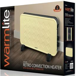 Warmlite WL41005C Retro Convection Heater 2000 Watt Cream