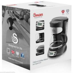 Swan SK13130N Coffee Maker 0.75 Litre Black
