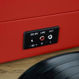 Akai A60011NR Bluetooth Rechargeable Turntable and Case Featuring Bluetooth