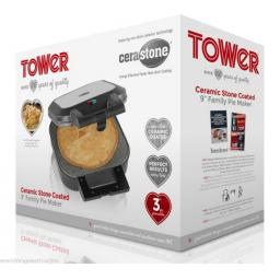 Tower T27006 9 inch Family Pie Maker Large Black