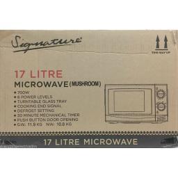 Signature S24006 Microwave 700 Watt 17 Litre Mushroom