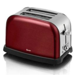 Swan ST16020ROUN 2 Slice Rouge Metallic Toaster Beautiful Design and Style