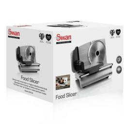 Swan SFS102 Aluminium Food Slicer Die Cast Silver