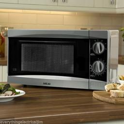Akai A24002 20L Manual Microwave 800W Silver