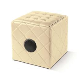 Itek I58022C Wireless Ottoman Cube Speaker Cream